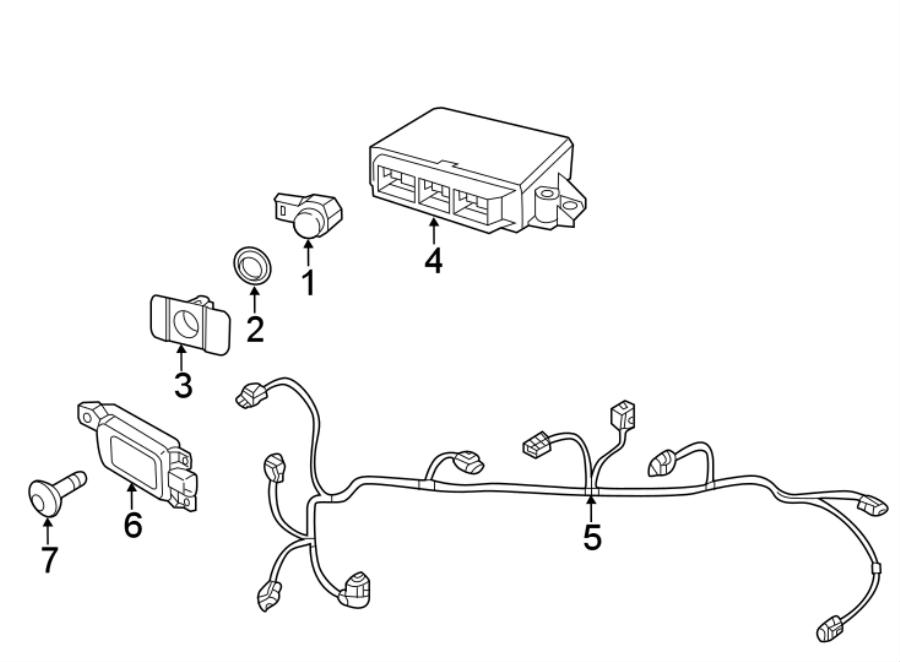Volkswagen Beetle Parking Aid Sensor Bracket. COMPONENTS