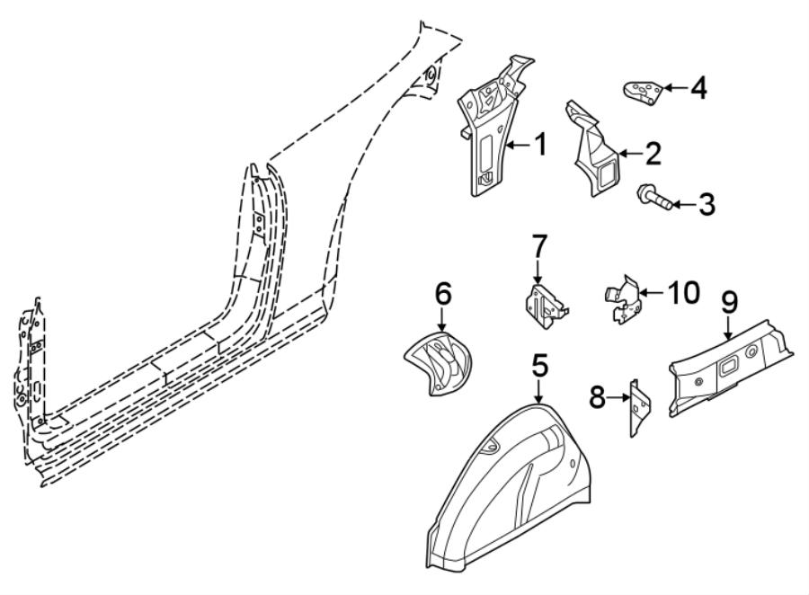 Volkswagen Beetle Convertible Fender Bracket (Front, Rear