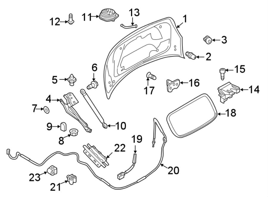 Volkswagen Beetle Conduit. Wire shield. Convertible,. Lid