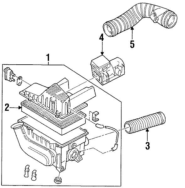 Volkswagen Passat Wagon Duct. HOSE. Suction pipe. 2.0