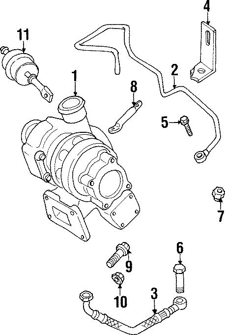 Volkswagen Passat Wagon Nut. Lock. Pipe. Exhaust