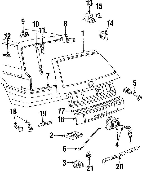 Volkswagen Passat Wagon Liftgate Lock Striker Plate