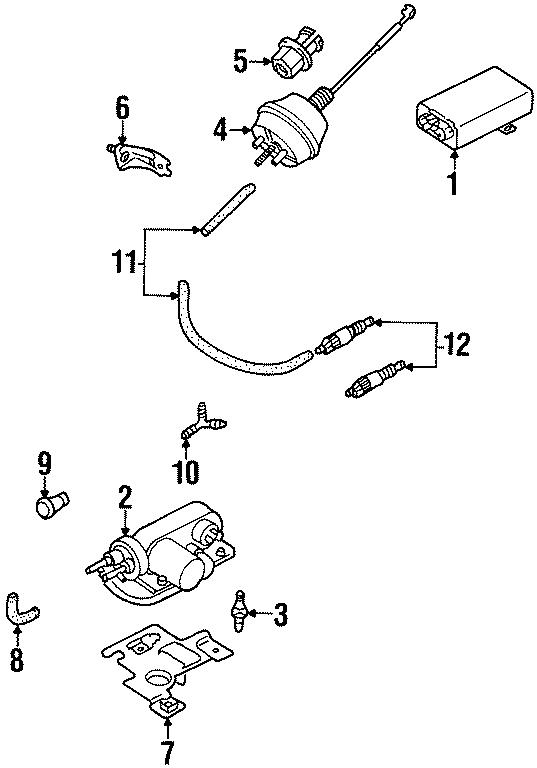 Volkswagen Cabrio Cruise Control Vacuum Harness. VACUUM