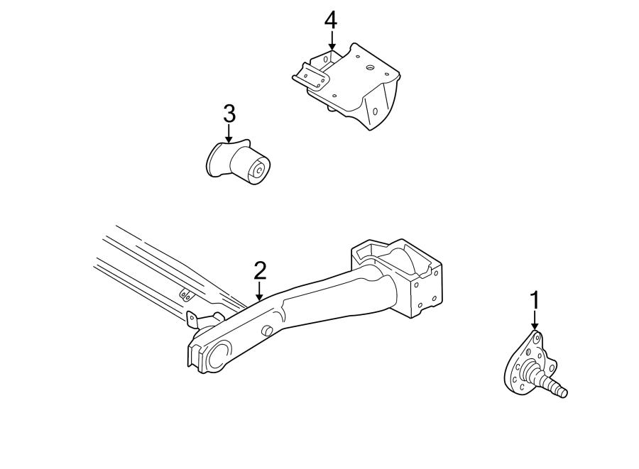 Volkswagen Cabrio Suspension Subframe (Rear). Axle beam