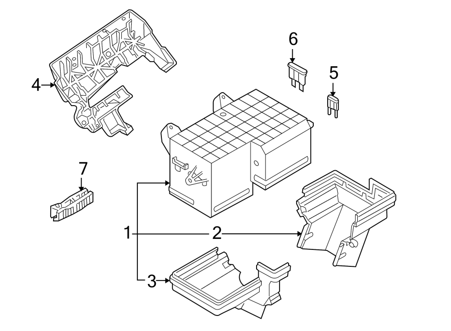 Volkswagen Phaeton Retainer. Front fuse box, #2