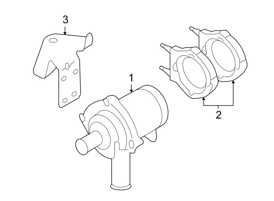 Volkswagen Phaeton Engine Auxiliary Water Pump. LITER