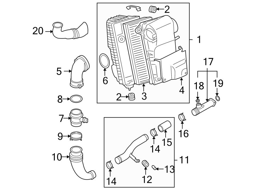 Volkswagen Touareg Engine Air Intake Hose. 5.0 LITER. Tube