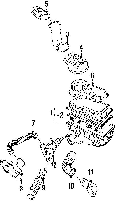 Volkswagen Cabriolet Heated air tube. HOSE. 1980-89