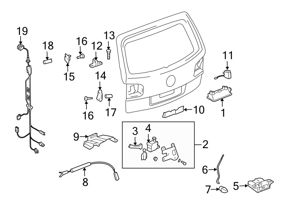 Volkswagen Touareg Wire harness. VIN, Rear, Camera