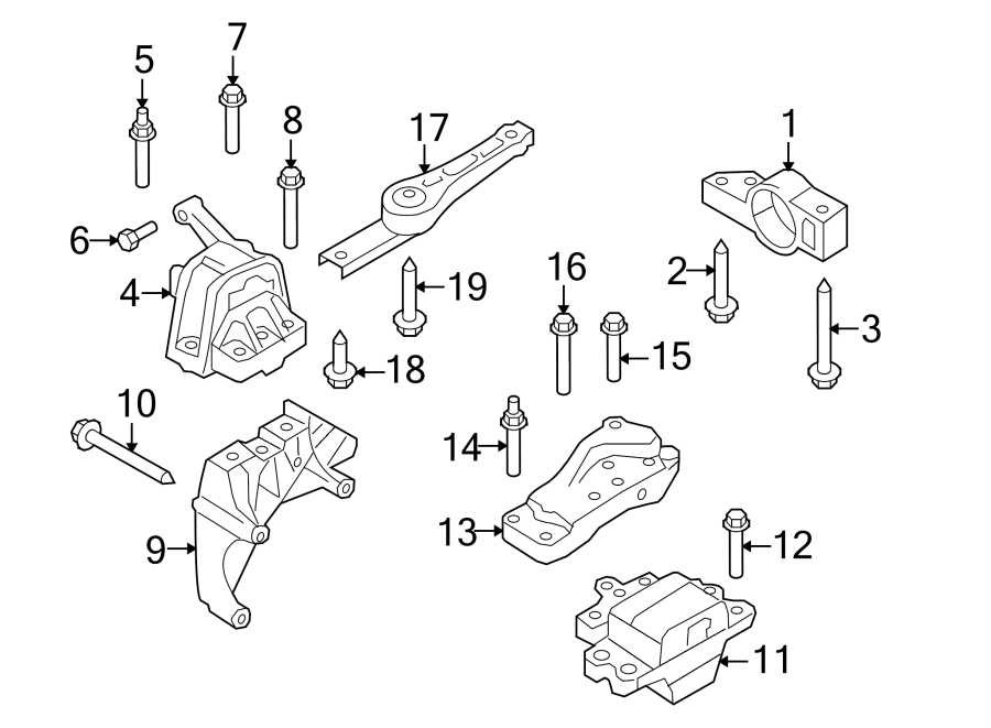 Volkswagen Tiguan Manual Transmission Mount. ENGINE