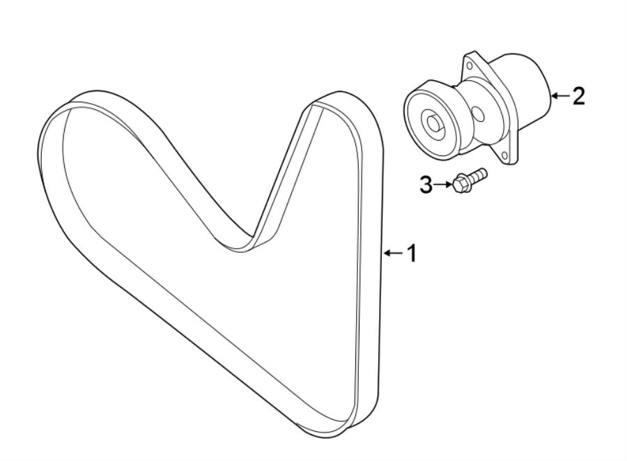 Volkswagen Tiguan Accessory Drive Belt Tensioner Assembly