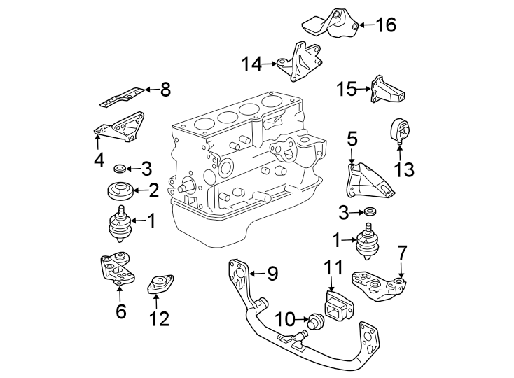 Volkswagen Passat Wagon Manual Transmission Mount. ENGINE
