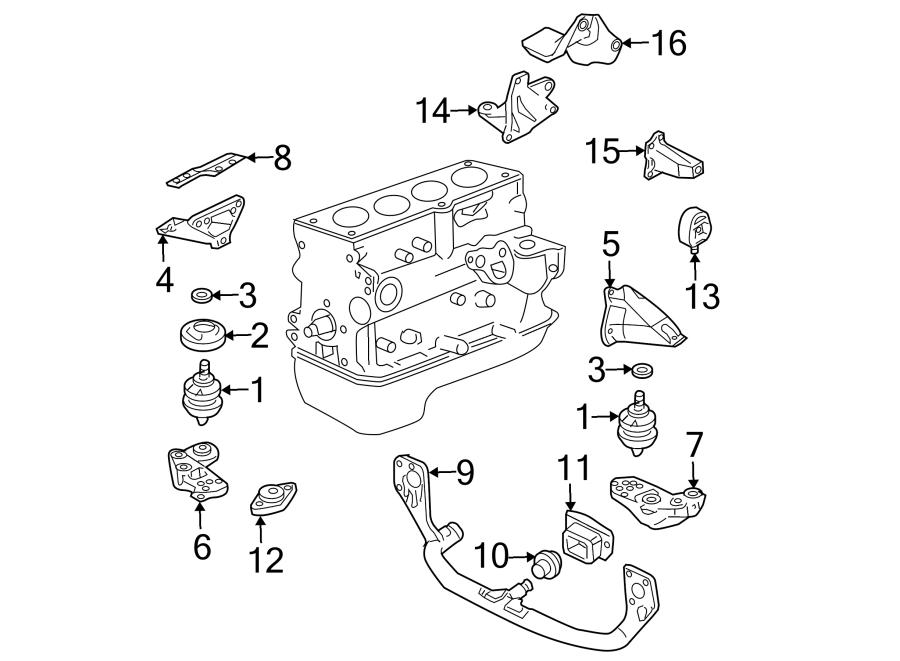 Volkswagen Passat Wagon Manual Transmission Mount. 1.8