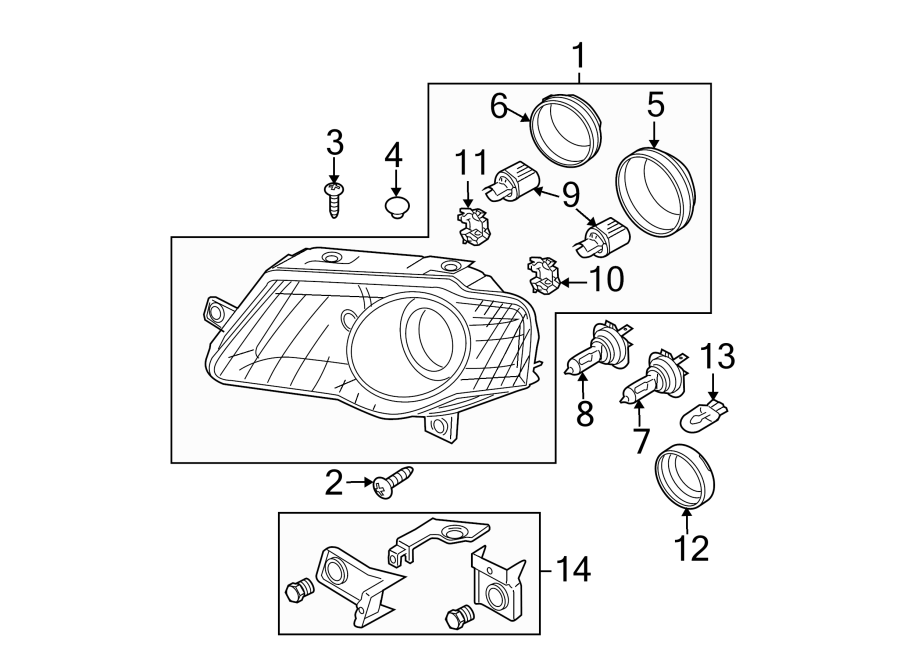 Volkswagen Passat Wagon Headlight Socket. W/O DIRECTIONAL