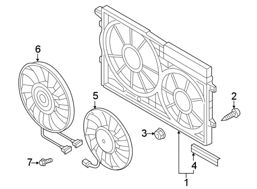 Volkswagen Passat Engine Cooling Fan Shroud (Front