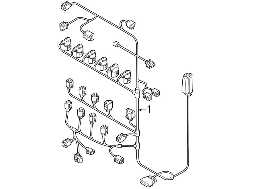 Volkswagen Passat Engine Wiring Harness. 3.6 LITER
