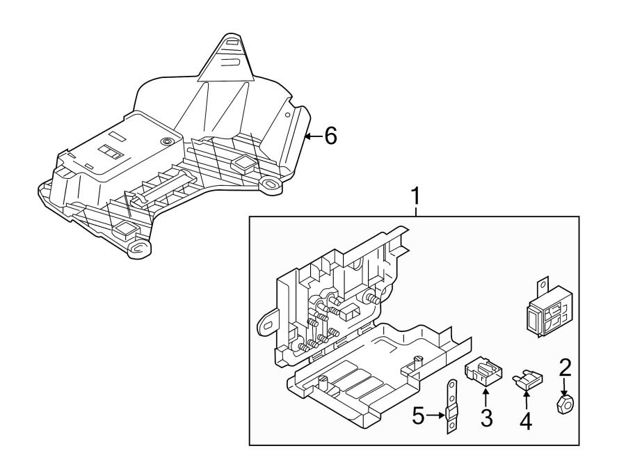 Volkswagen Passat Fuse Box. BATTERY PROTECTION, 3.6 LITER