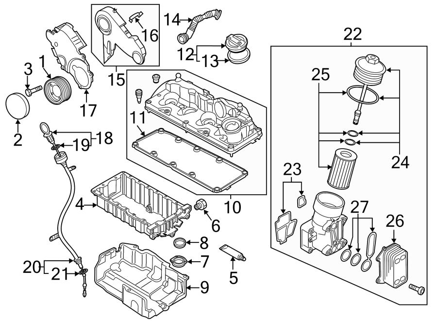 Volkswagen Passat Oil cooler. Included with: oil filter