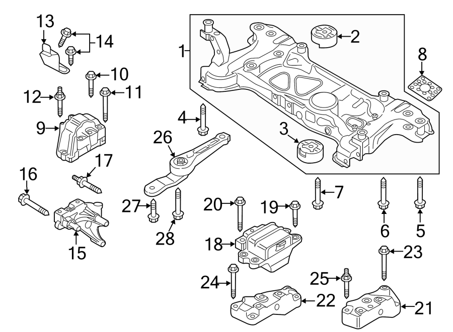 Volkswagen Passat Engine Mount. DIESEL, LITER, Motor