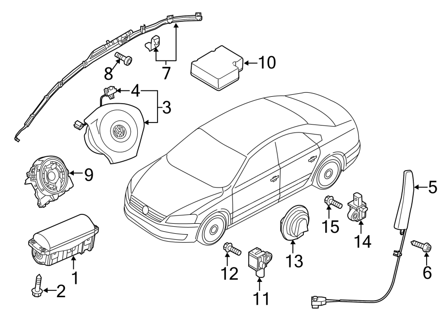 Volkswagen Passat Air Bag Wiring Harness. AIR BAGS. AIR