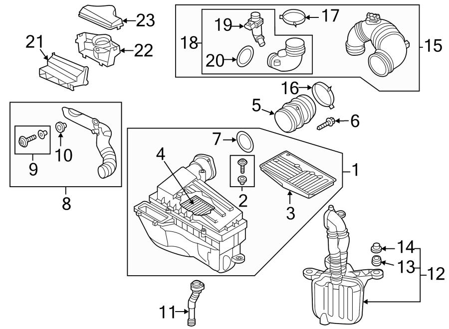 Volkswagen Passat Engine Air Intake Resonator. 2015