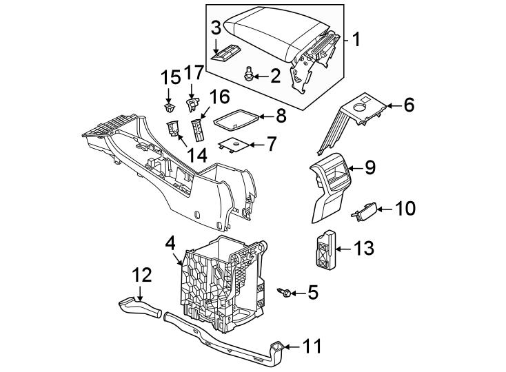 Volkswagen Passat Hvac duct adapter. Rear section. Guide