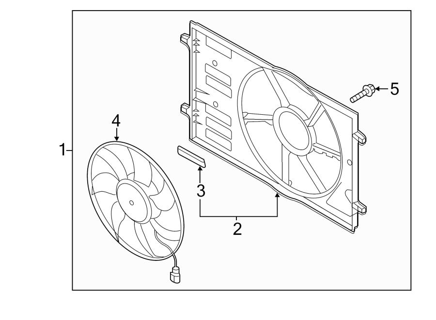 Volkswagen Golf Engine Cooling Fan Assembly. MAGNA, BROSE