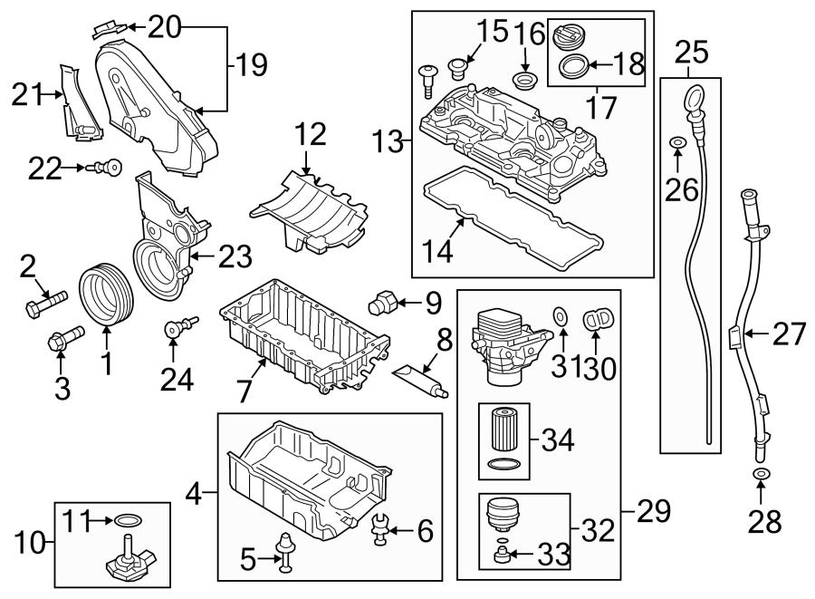 Volkswagen Golf Engine Oil Filter Adapter Gasket. Engine