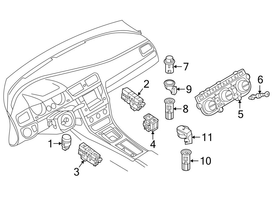 Volkswagen Golf Hvac temperature control panel