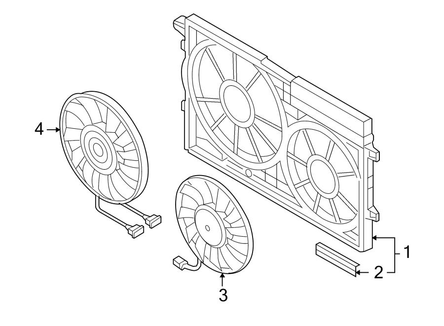 Volkswagen Jetta Wagon Engine Cooling Fan Motor