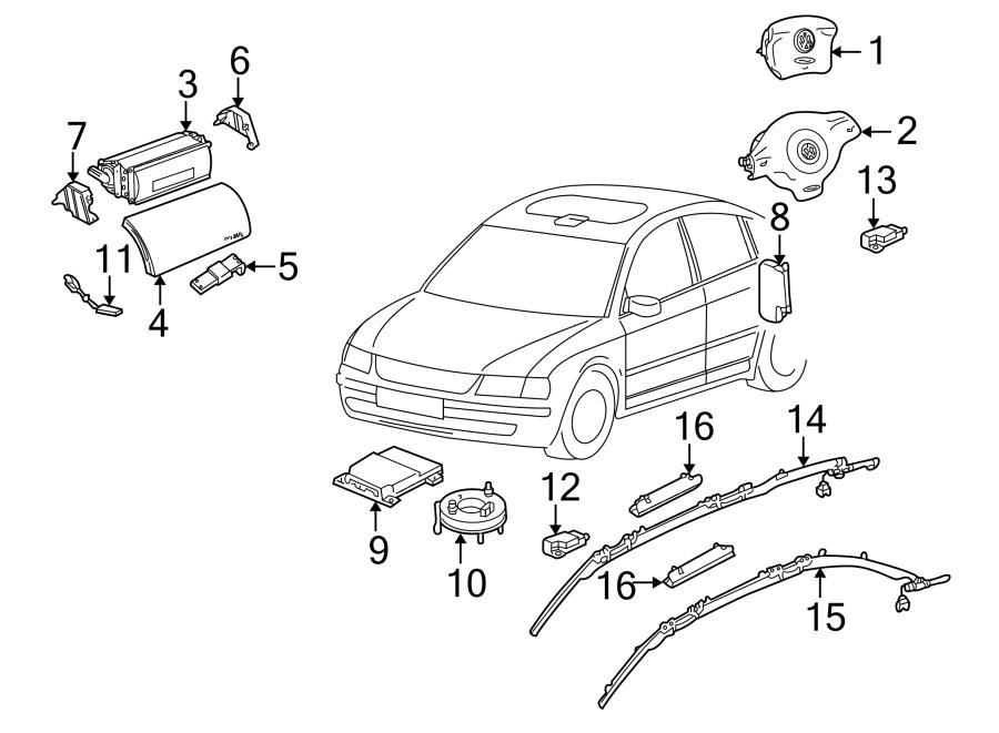 Volkswagen Jetta Air Bag Impact Sensor. Rear, SUSPENSION