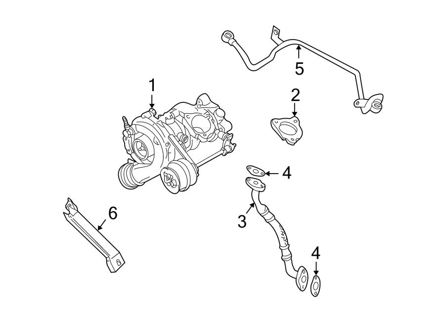 Volkswagen Golf Turbocharger Oil Line. Return, LITER