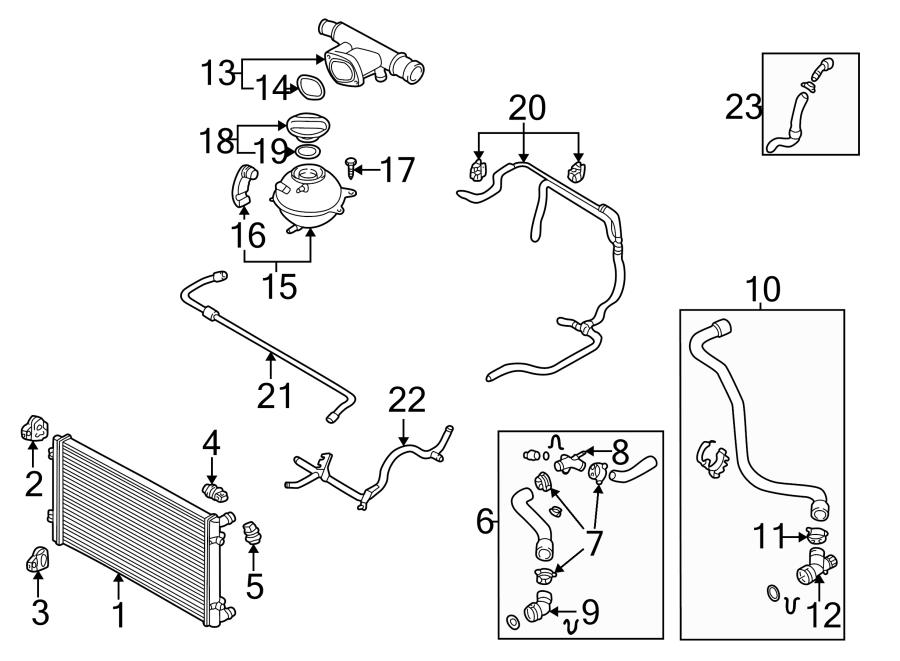 Volkswagen Jetta Wagon Engine Coolant Overflow Hose (Lower