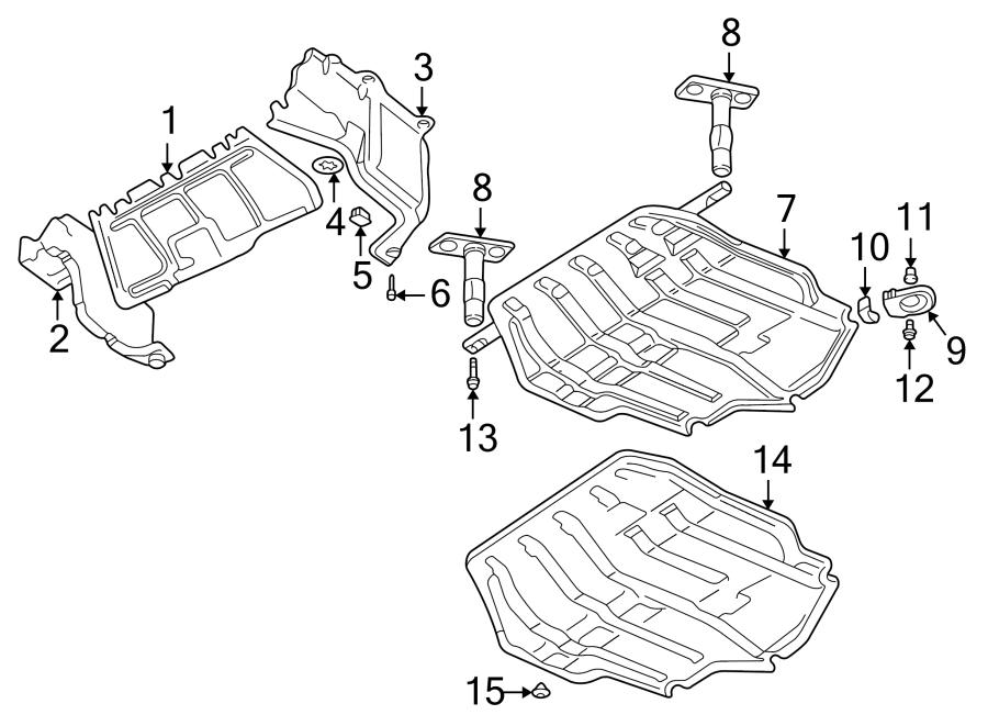 Volkswagen Jetta GLI Radiator Support Splash Shield Clip