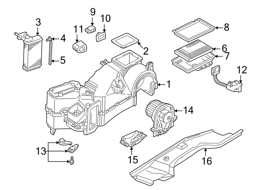 Volkswagen Jetta Wagon Filter. Air. Cabin. Case. FRAME