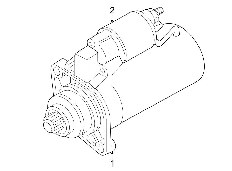 Volkswagen Jetta Starter Motor. Trans, Manual, Auto