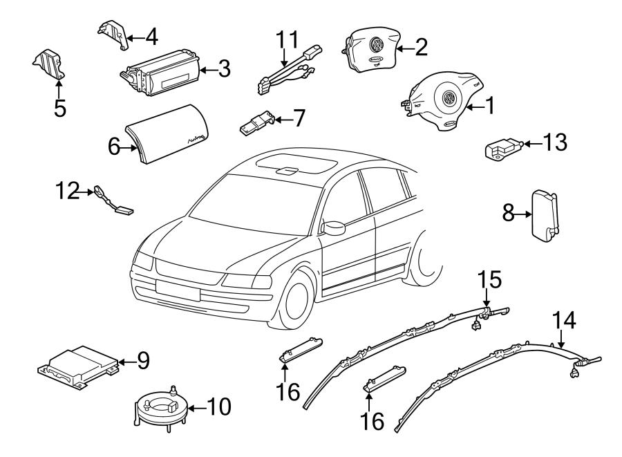 Volkswagen Jetta Air Bag Wiring Harness (Front). Driver