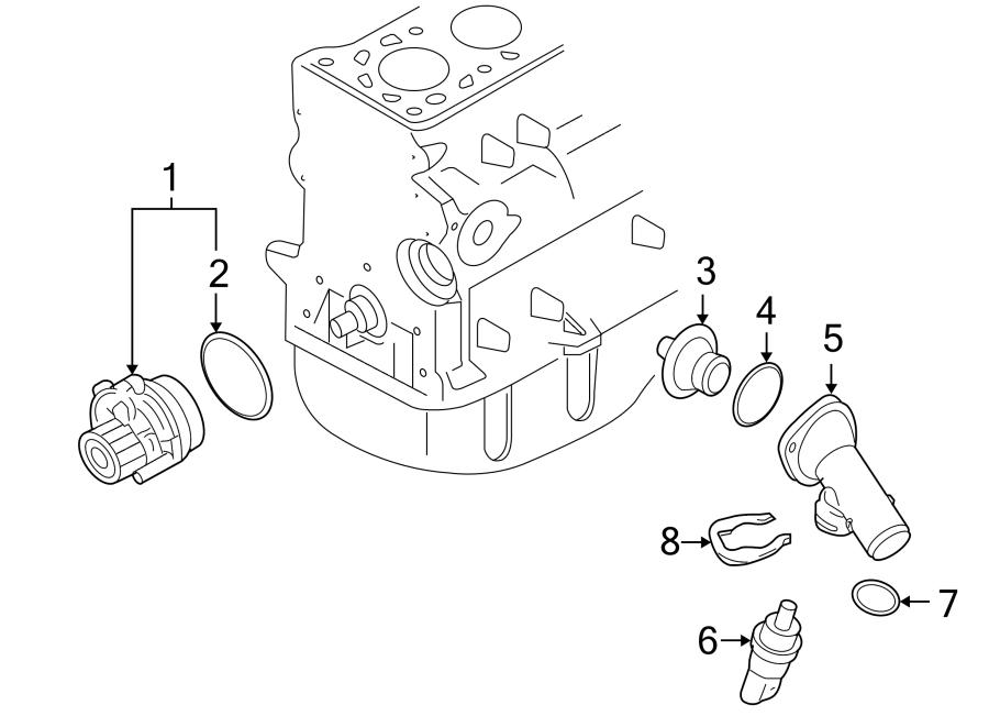 Volkswagen Jetta Engine Water Pump Gasket. 1.9 LITER