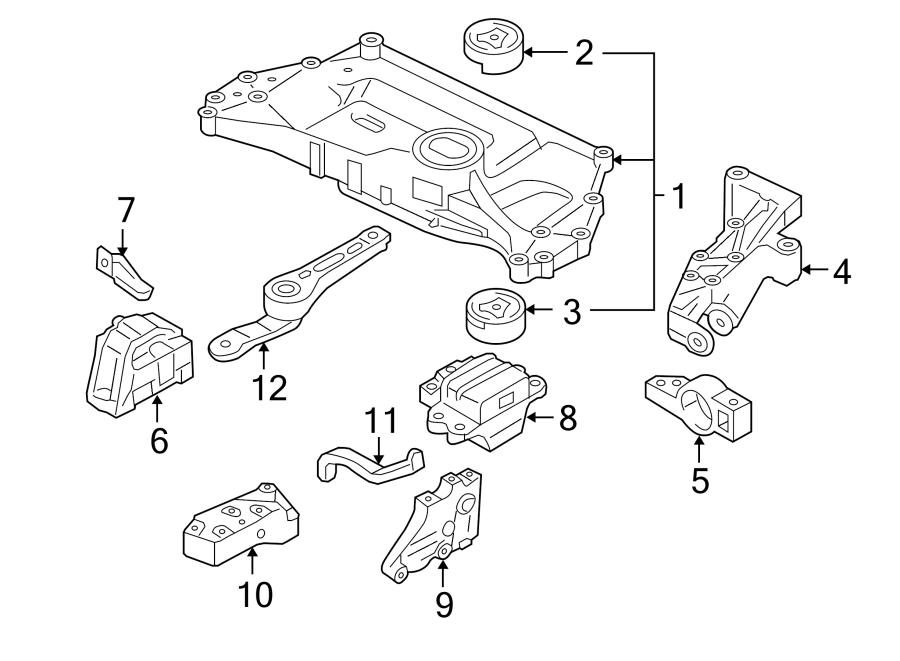 Volkswagen Jetta Manual Transmission Mount. Left, ENGINE