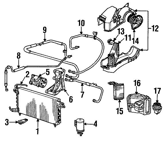 Volkswagen Golf Alternator upper bracket. Compressor mount