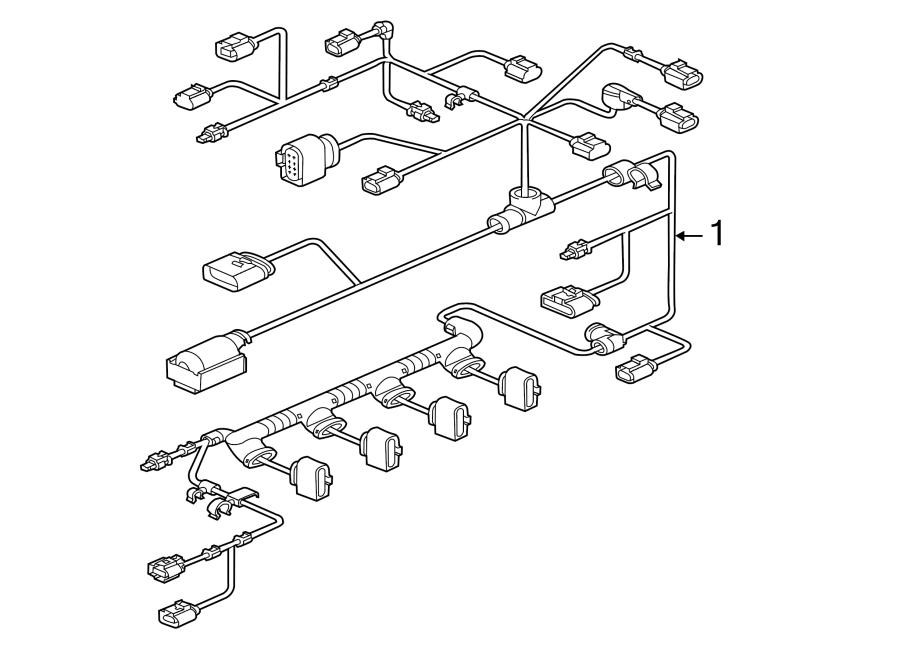 Volkswagen Jetta GLI Engine Wiring Harness. LITER, Trans