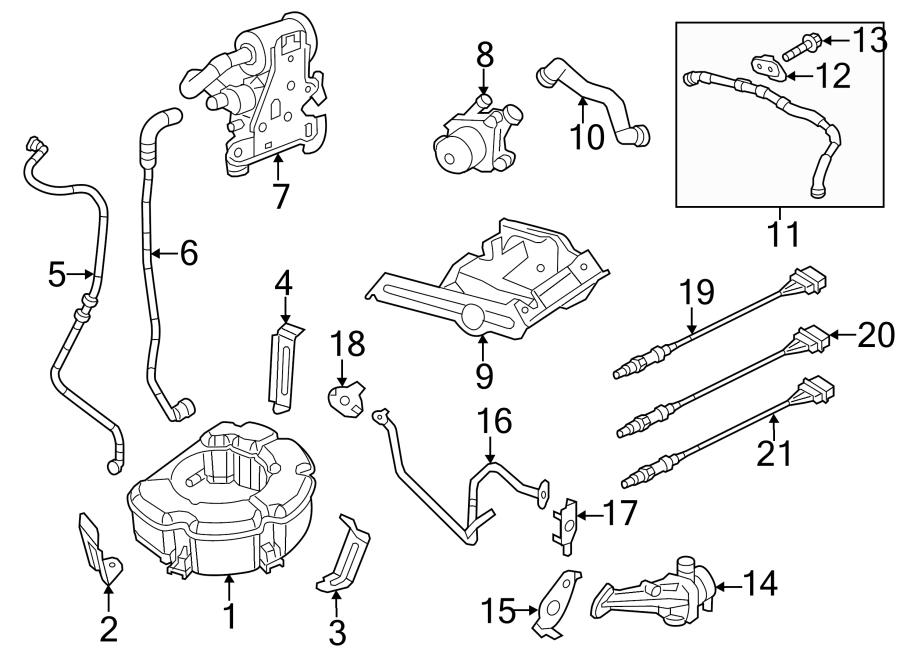 Volkswagen Jetta Secondary Air Injection Pump Hose. LITER