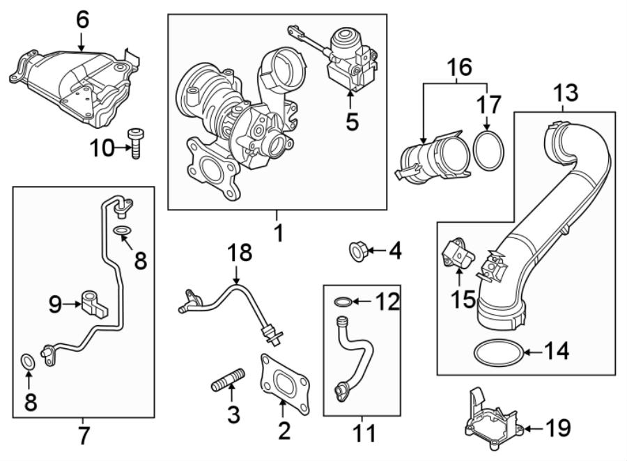 Volkswagen Jetta Exhaust manifold gasket. Turbocharger