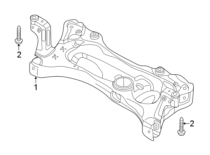 Volkswagen Jetta Suspension Subframe Crossmember. Jetta. W