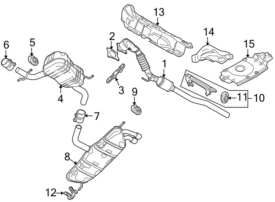 Volkswagen Eos Exhaust Muffler (Rear). 2.0 LITER. Eos; 2
