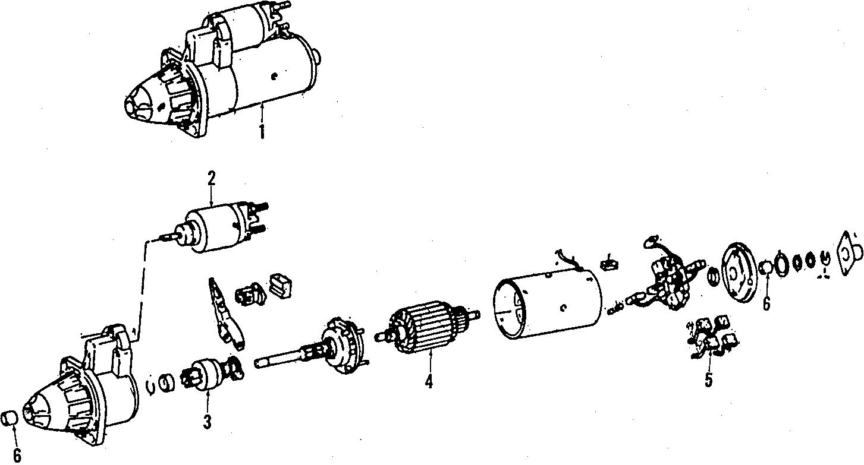 Volkswagen Scirocco Starter. Rabbit; gas; manual trans; 1