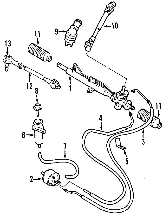 Volkswagen Cabrio Power Steering Pressure Hose. HOSES