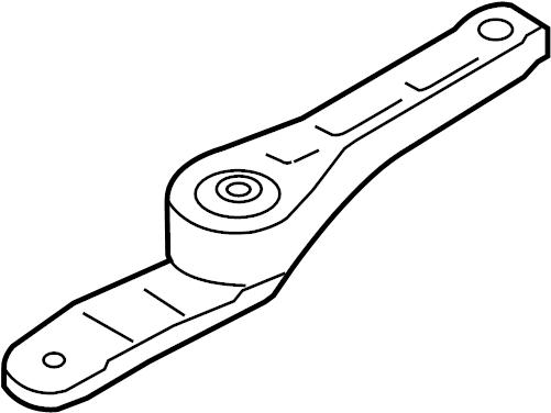 Volkswagen Jetta Wagon Engine Support Rod (Rear