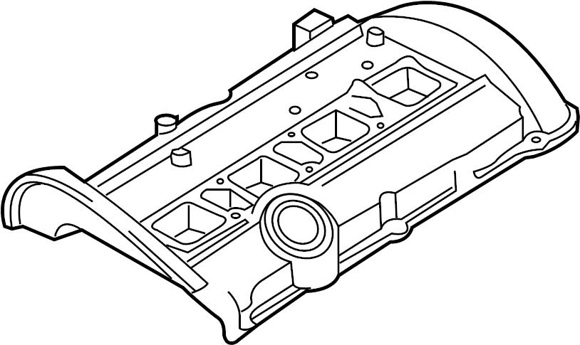 Volkswagen Passat Engine Valve Cover. 1.8 LITER. Cabriolet