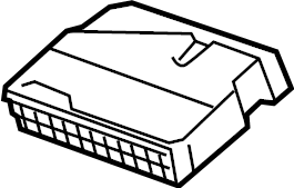 Volkswagen GTI Fuse Box. Fuse Holder. Relay Box